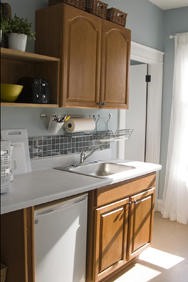 DeMane Design: kitchen remodel, re-purpose cabinets
